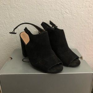 NY&Co Strapped Faux-Suede Mule Heeled Sandal